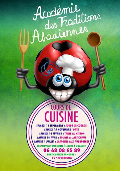 """Programme """"Cours de Cuisine 2015-2016"""""""