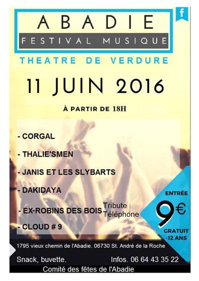 Affiche du Festival Musique 2016