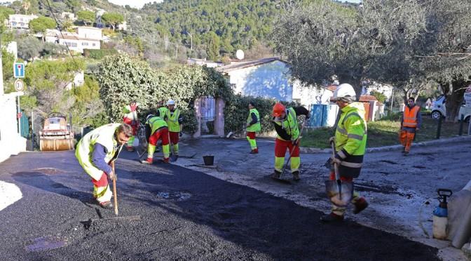 Rénovation de la chaussée dans le hameau de la Colle
