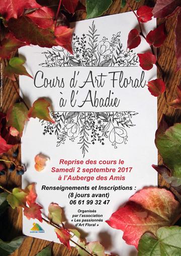 Cours d'art floral (affiche)