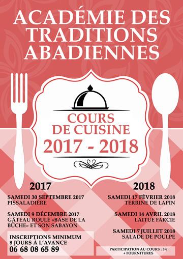 Cours de cuisine 2017-2018 (affiche)