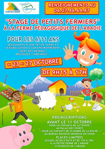"""Affiche pour le """"Stage de petits fermiers"""""""