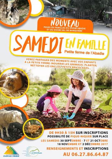 """Affiche pour """"Samedi en famille"""""""