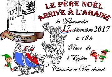 Affiche pour l'Arrivée du Père Noël