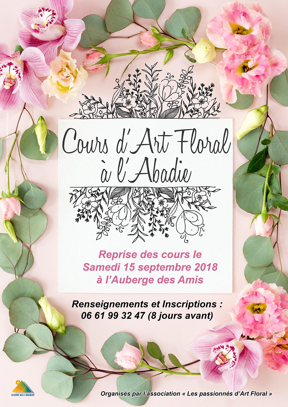 affiche Cours d'Art Floral à l'Abadie