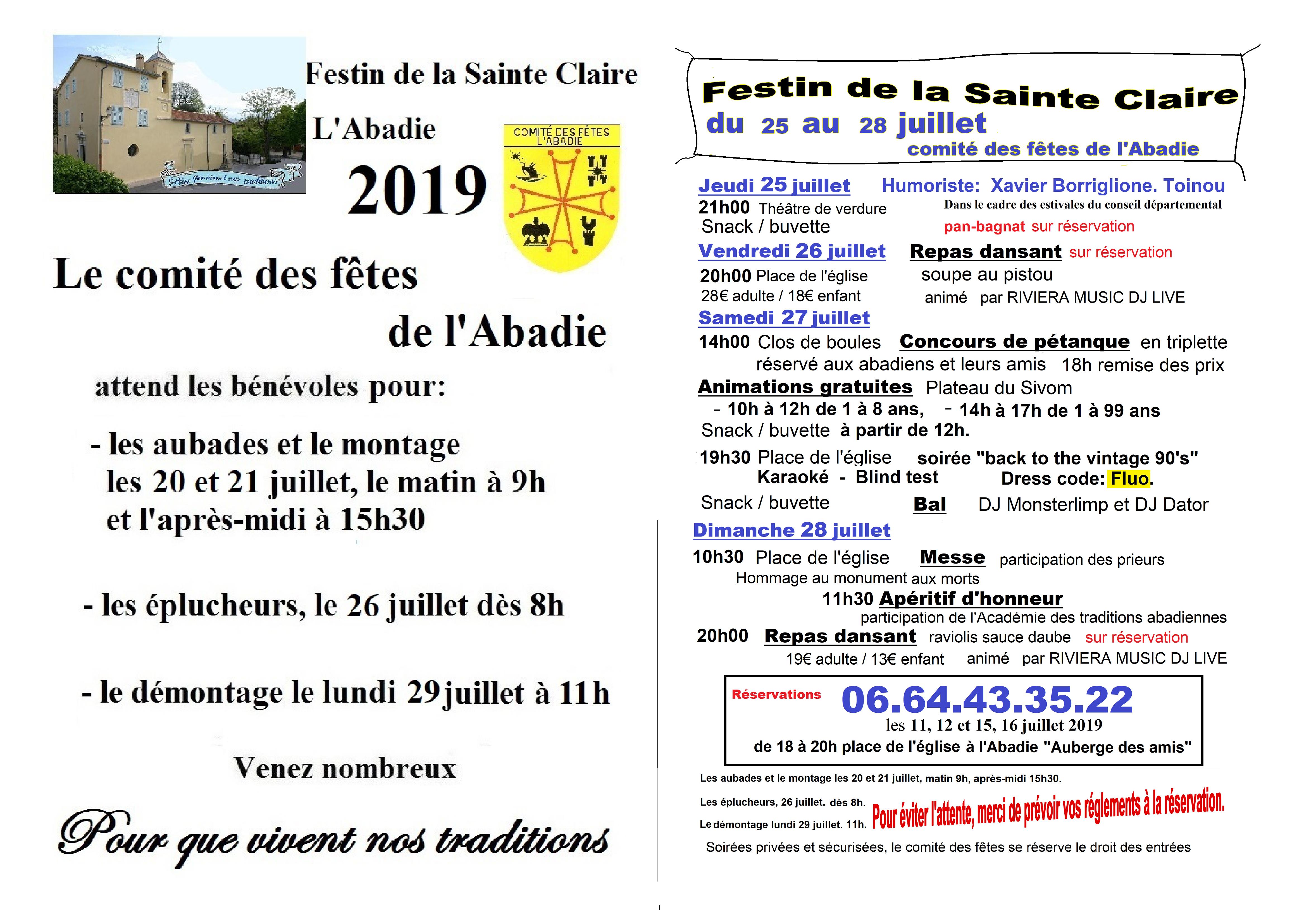 Festin de la Sainte Claire