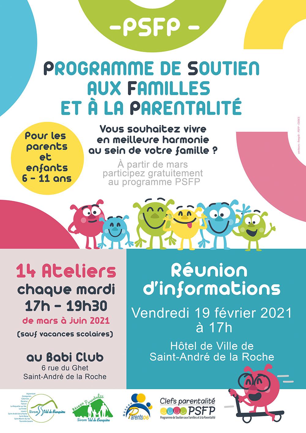 Inscriptions : réunion d'information - Programme de Soutien aux Familles et à la Parentalité