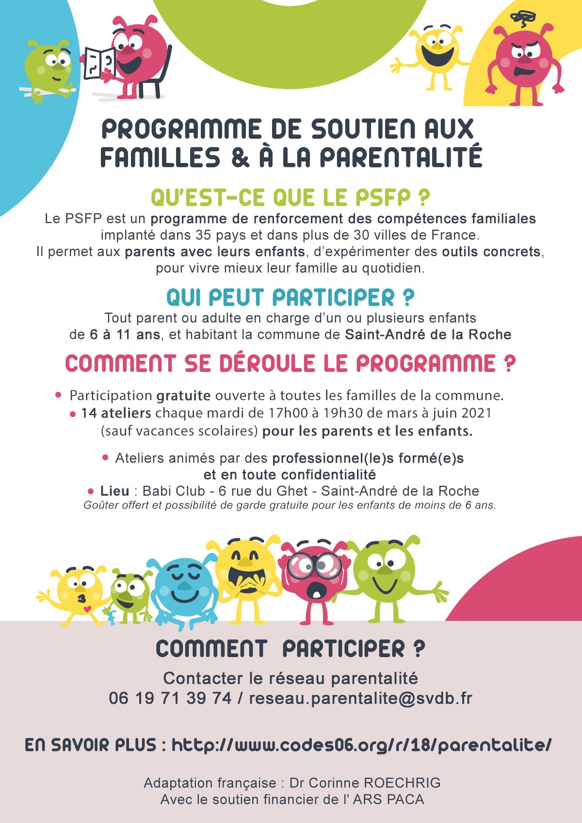 Réunion d'informations - Programme de soutien aux familles et à la parentalité